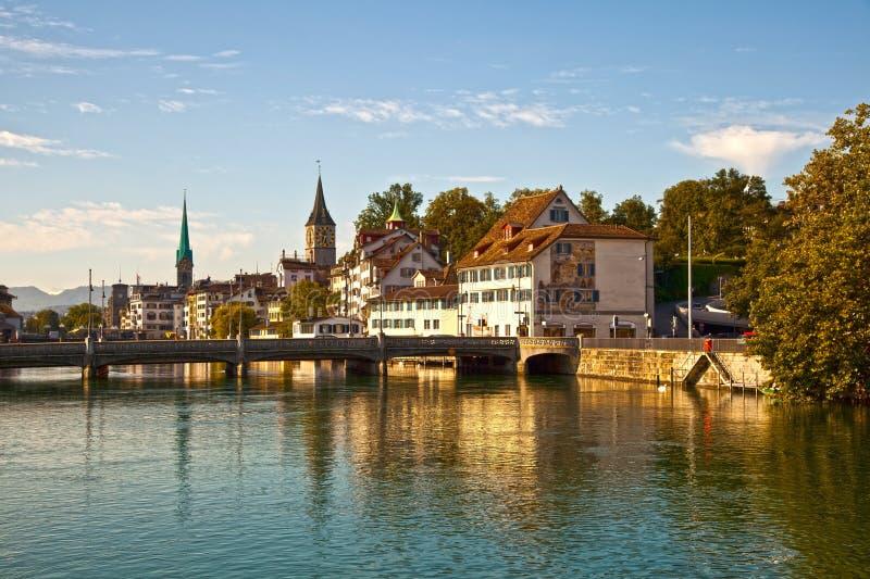 De Rivier van Limmat, Zürich royalty-vrije stock fotografie