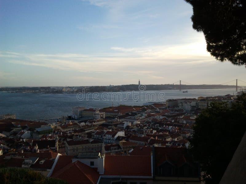 De rivier van Lissabon royalty-vrije stock afbeeldingen