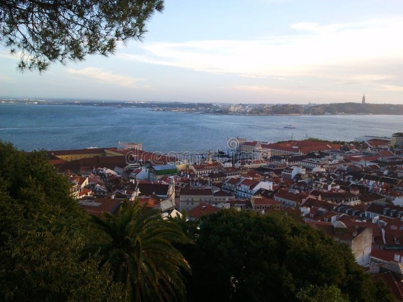 De rivier van Lissabon stock afbeeldingen