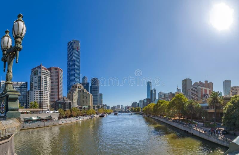 De Rivier van Melbourne Yarra royalty-vrije stock afbeelding