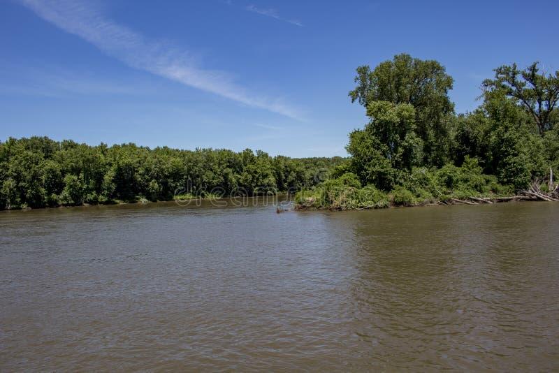De Rivier van de Mississippi stock fotografie