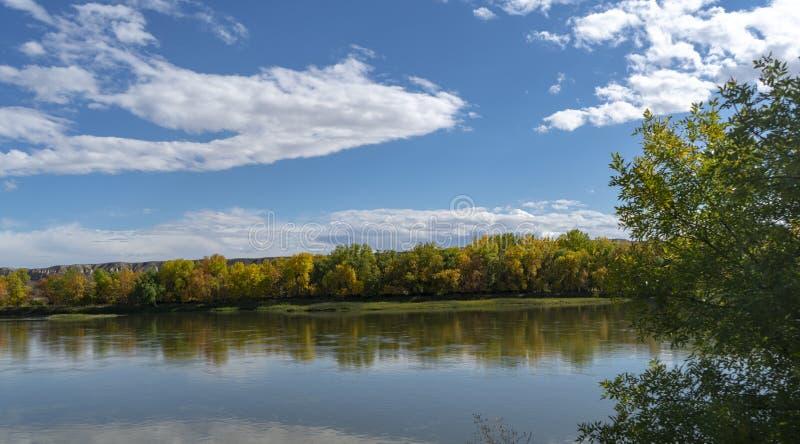 De rivier van Missouri bij Fort Benton Montana royalty-vrije stock afbeelding