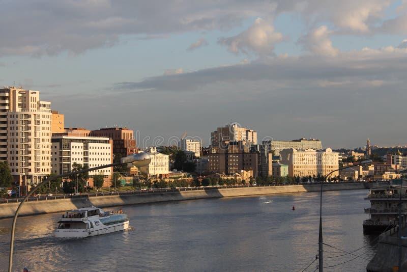 De rivier van Moskou stock foto