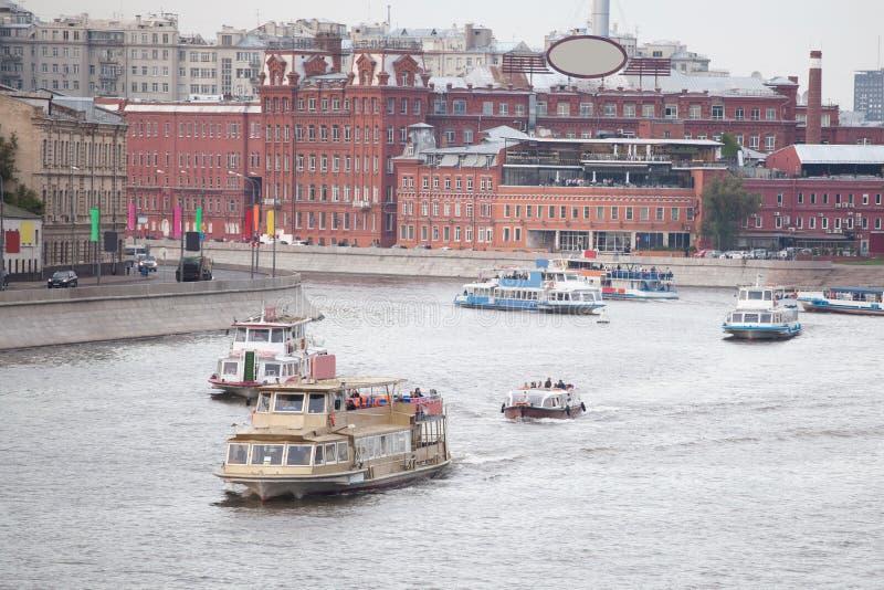 De rivier van Moskou royalty-vrije stock foto