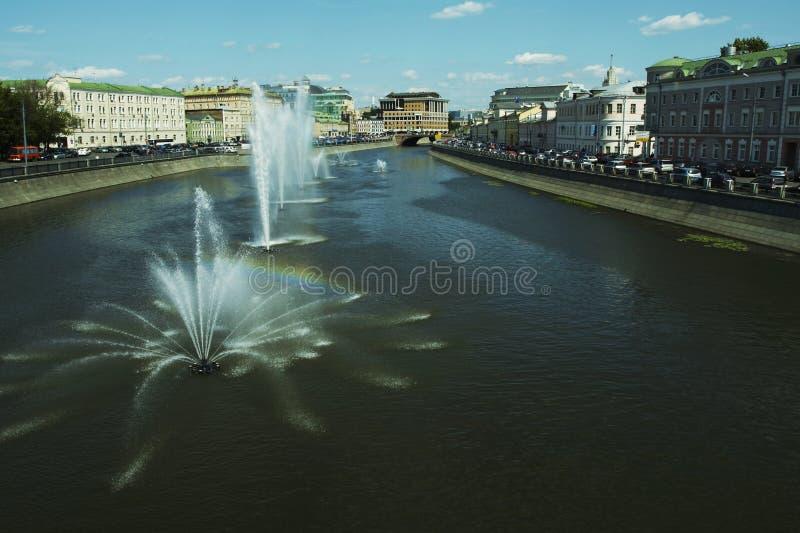 De rivier van Moskou royalty-vrije stock foto's