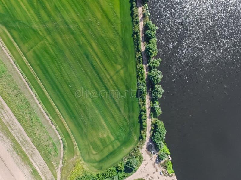 De rivier van Moskou, mening van hierboven stock fotografie