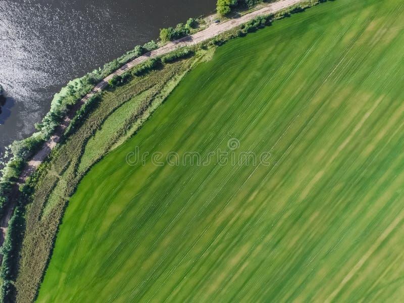 De rivier van Moskou, mening van hierboven royalty-vrije stock afbeelding