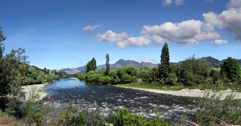 De Rivier van Motueka in het District Tasman royalty-vrije stock afbeelding