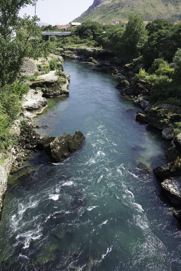 De rivier van Neretva stock afbeelding