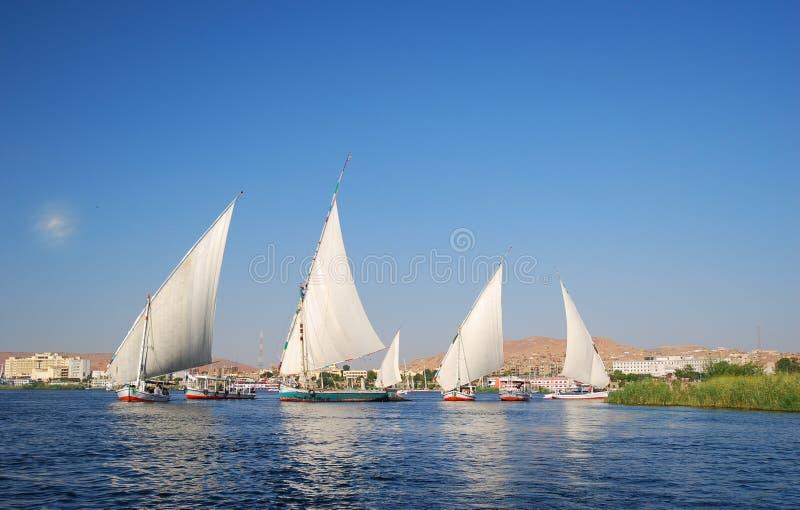 De rivier van Nijl in Egypte royalty-vrije stock foto