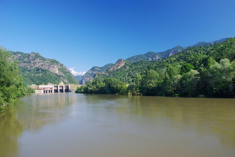 De rivier van Olt stock foto's