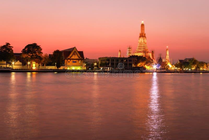 De rivier van Phraya van Chao stock foto's