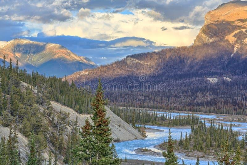 De rivier van Saskatchewan royalty-vrije stock fotografie