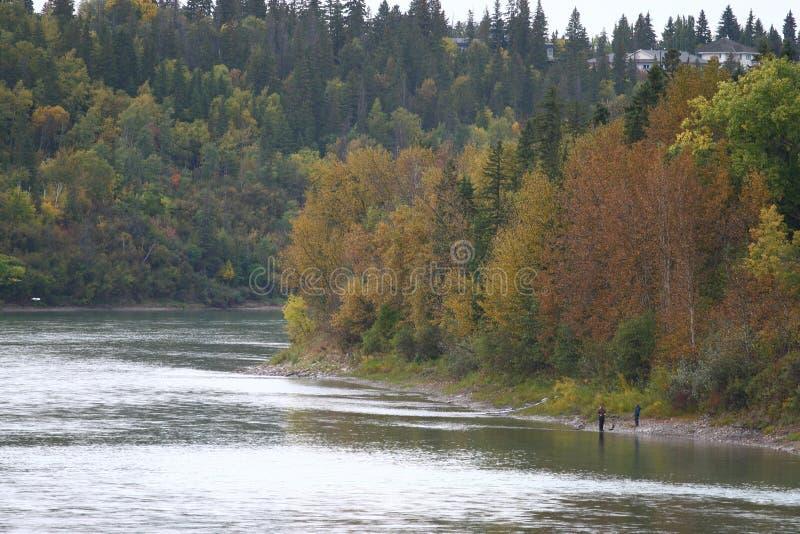 De rivier van Saskatchewan stock foto's