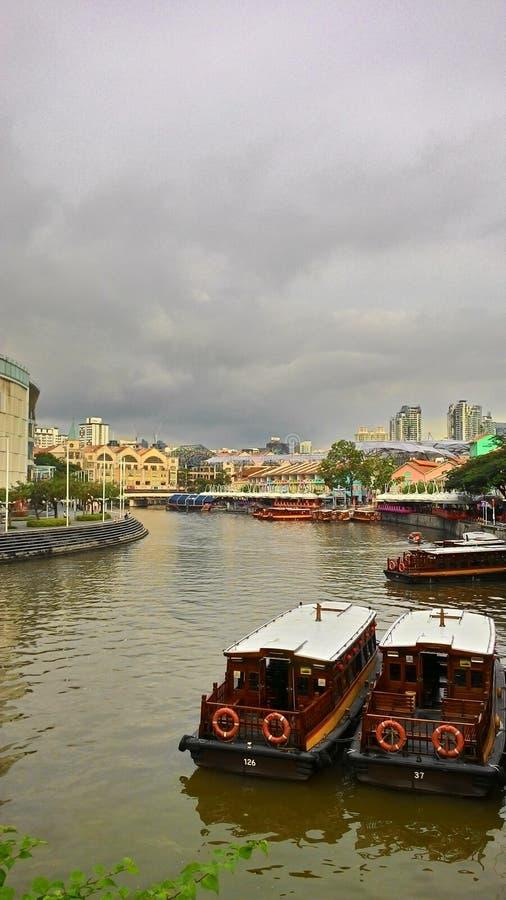 De Rivier van Singapore royalty-vrije stock fotografie