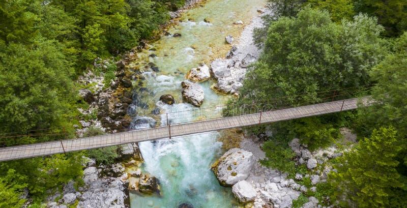De rivier van Soca in Sloveni? royalty-vrije stock foto's