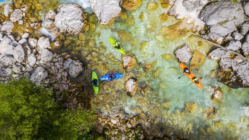 De rivier van Soca in Sloveni? royalty-vrije stock afbeeldingen