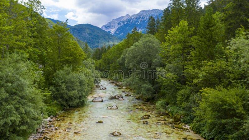 De rivier van Soca in Sloveni? stock foto