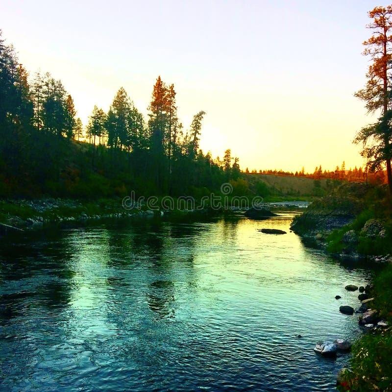 De rivier van Spokane royalty-vrije stock fotografie