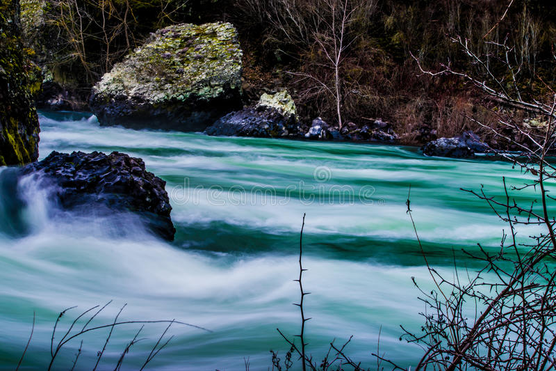 De rivier van Spokane stock afbeeldingen