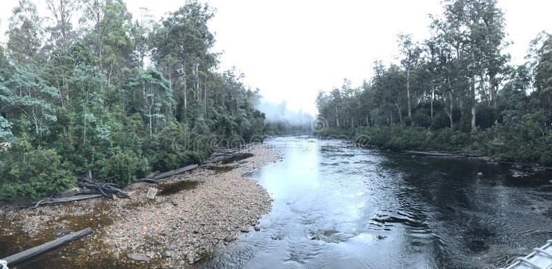 De rivier van Tasmanige royalty-vrije stock fotografie