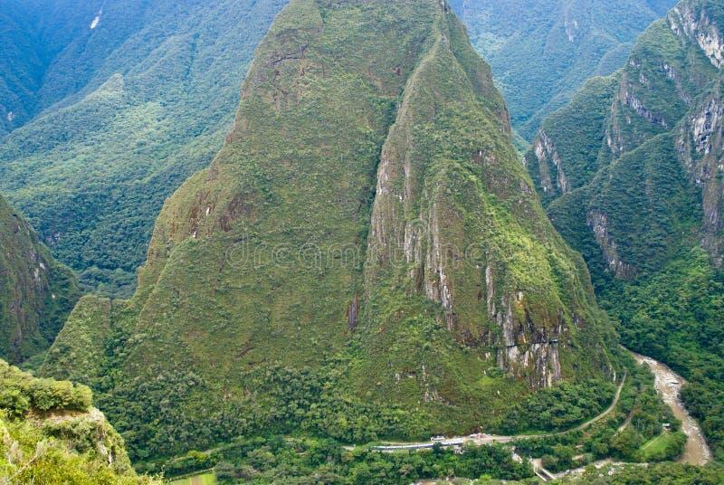 De Rivier van Urubamba in Machu Picchu, Peru stock fotografie