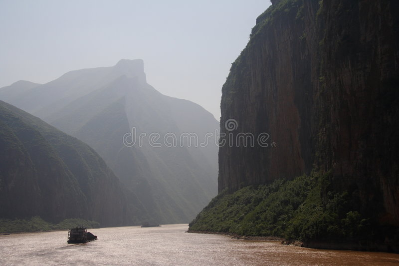 De rivier van Yangtze stock fotografie