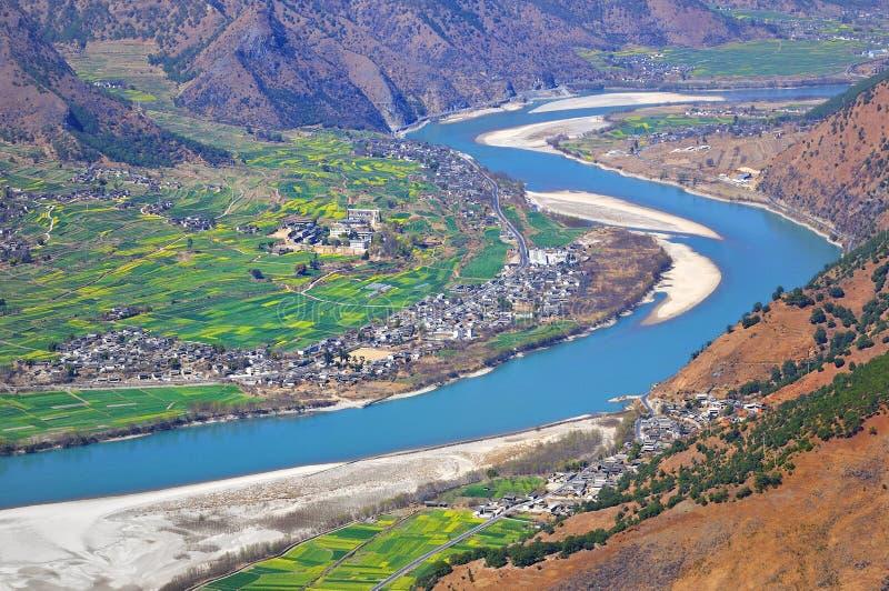 De Rivier van Yangtze stock foto