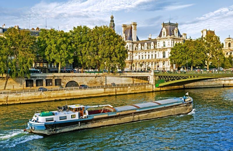 De Rivier van de zegen, Parijs stock afbeeldingen