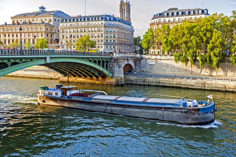 De Rivier van de zegen, Parijs royalty-vrije stock afbeeldingen