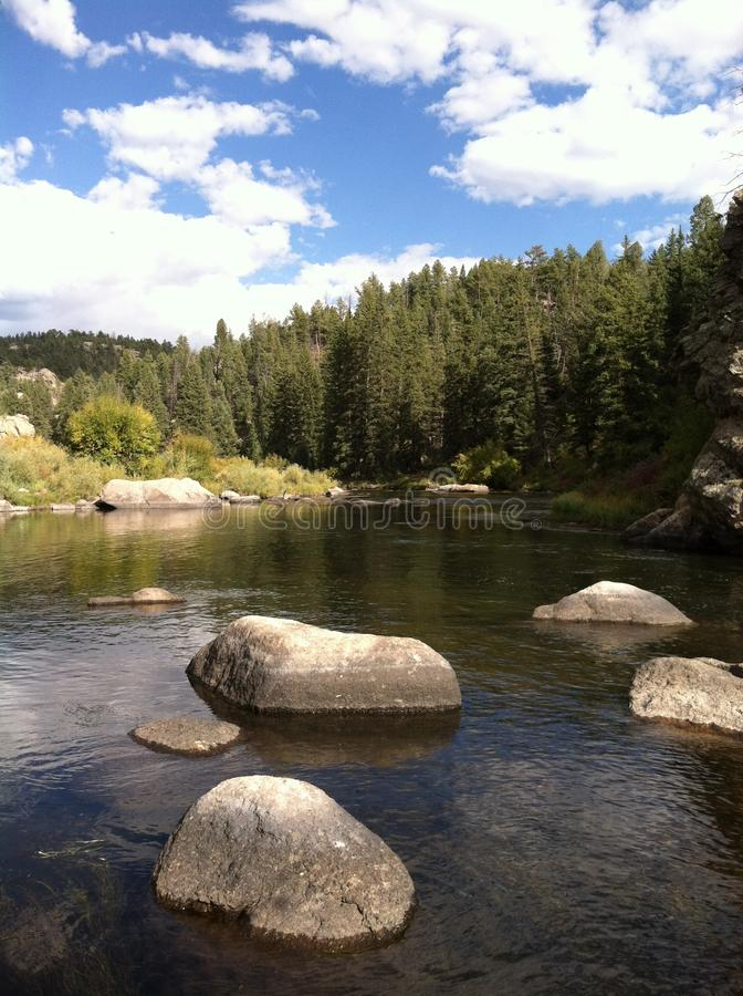 De Rivier van zuidenpltte, Colorado stock afbeeldingen