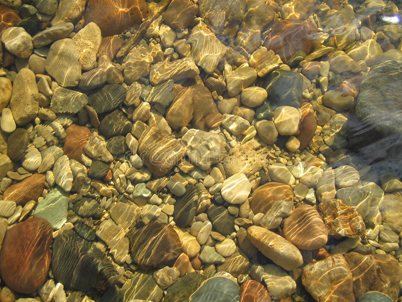 De rivierbed van de steen royalty-vrije stock foto