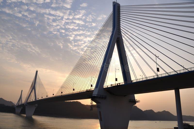 De rivierbrug 6 van Yangtze van Yiling royalty-vrije stock afbeelding
