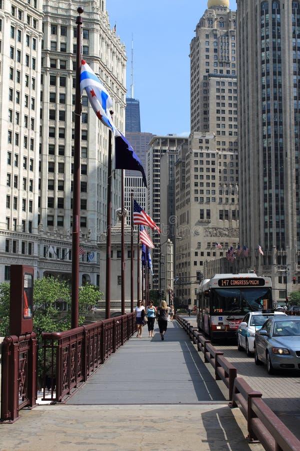 De Rivierbrug van Chicago royalty-vrije stock afbeelding