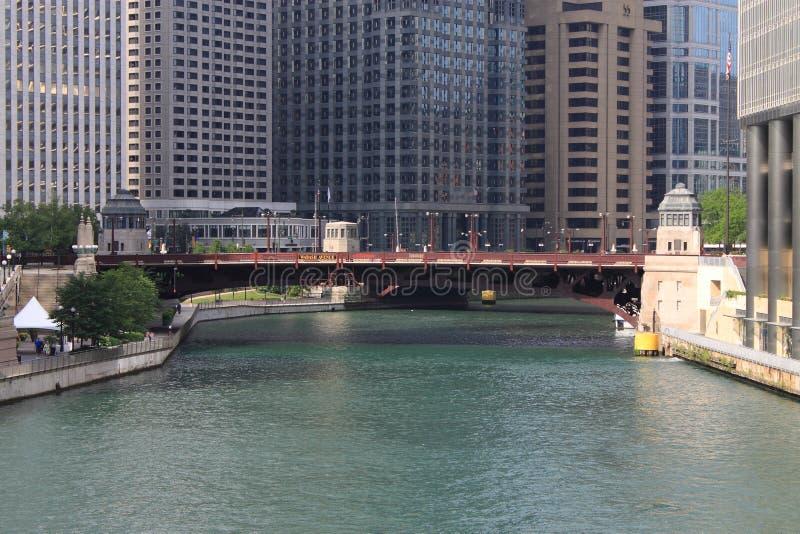 De Rivierbrug van Chicago stock afbeelding