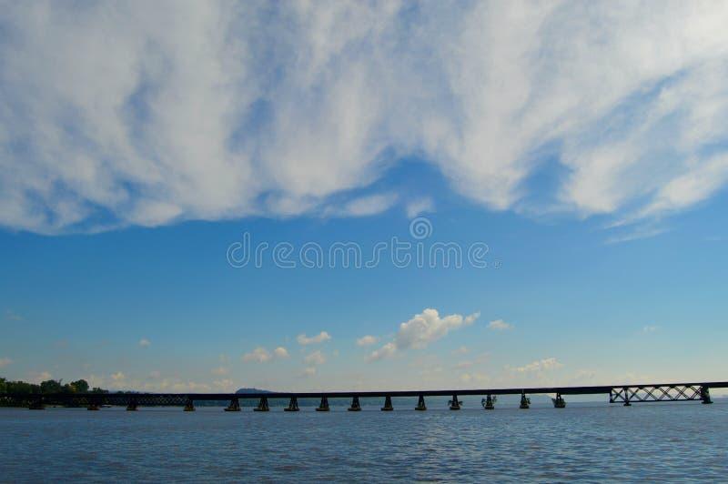 De Rivierbrug van Wisconsin stock foto's