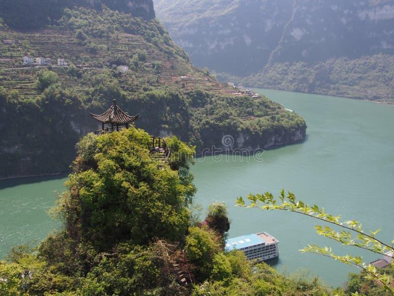 De Riviercruise bij Yichang-Pijler Reis naar Drie Klovendam RT royalty-vrije stock fotografie