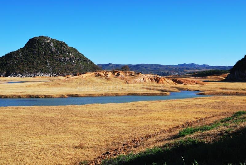 De rivieren van de landschapsprairie royalty-vrije stock afbeelding