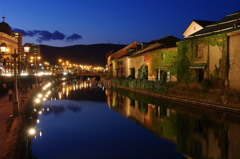 De rivierkant van Otaru stock fotografie