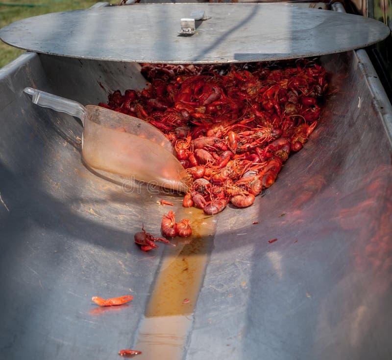 De rivierkreeften koken stock foto's