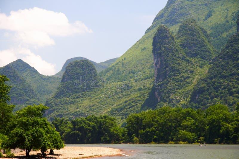 De rivierlandschap van Li stock foto's