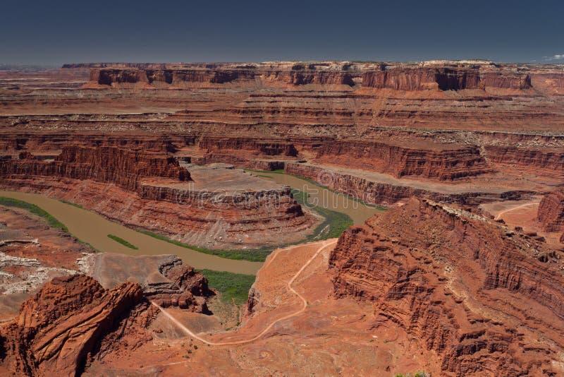 De rivierlandschap van Utah Colorado stock fotografie
