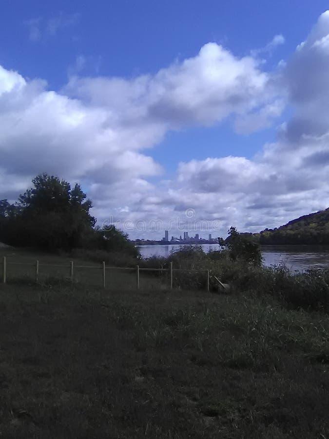 De Riviermening van Arkansas stock afbeeldingen