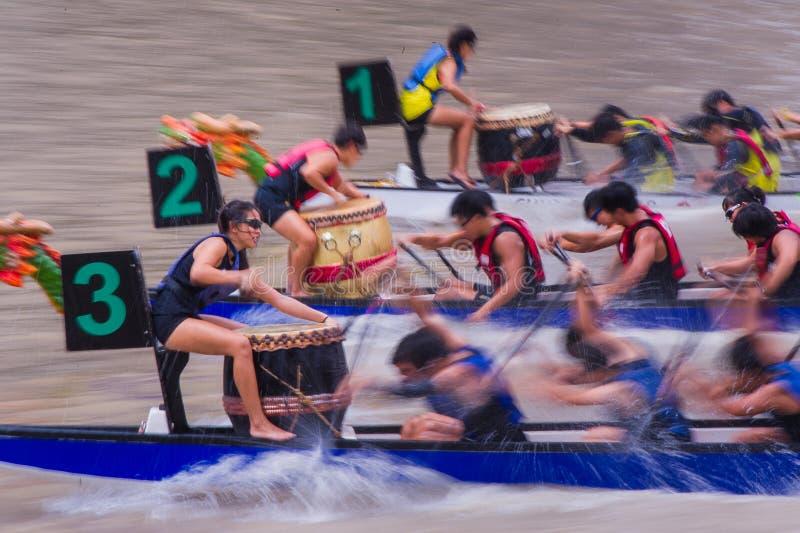 De Rivierregatta 2014 van Singapore stock fotografie