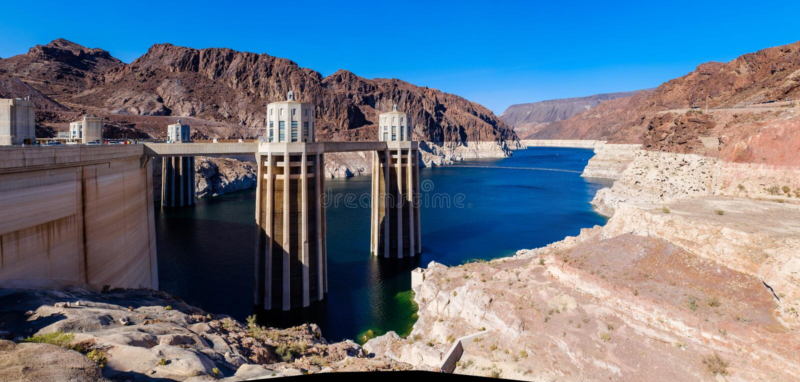 De Rivierreservoir van Colorado bij de Hoover-Dam royalty-vrije stock afbeeldingen
