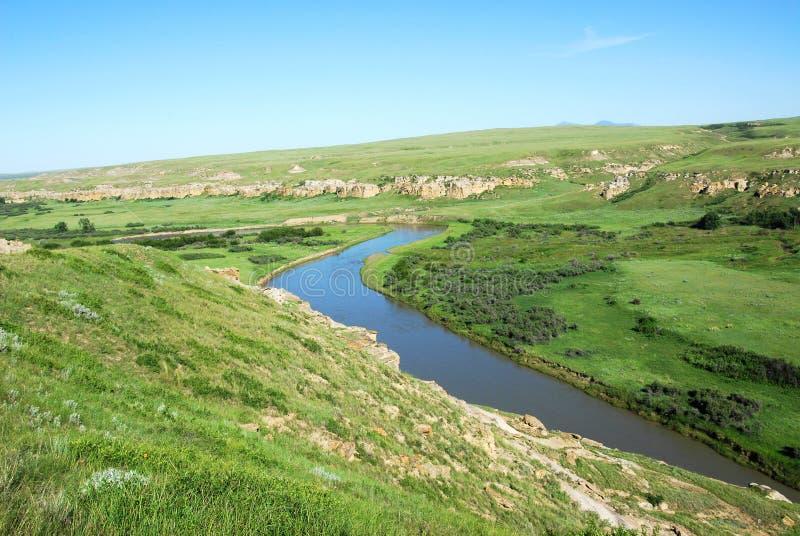 De riviervallei van de melk royalty-vrije stock afbeeldingen
