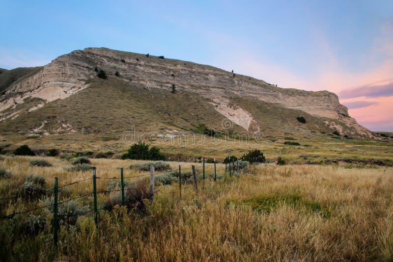 De Riviervallei van North Platte, westelijk Nebraska, de V.S. stock fotografie