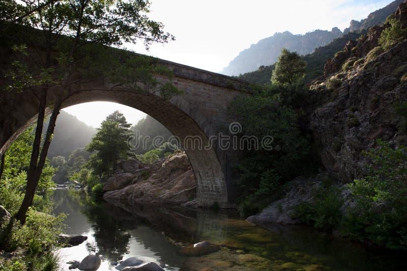 De riviervallei van Spelunca stock foto's