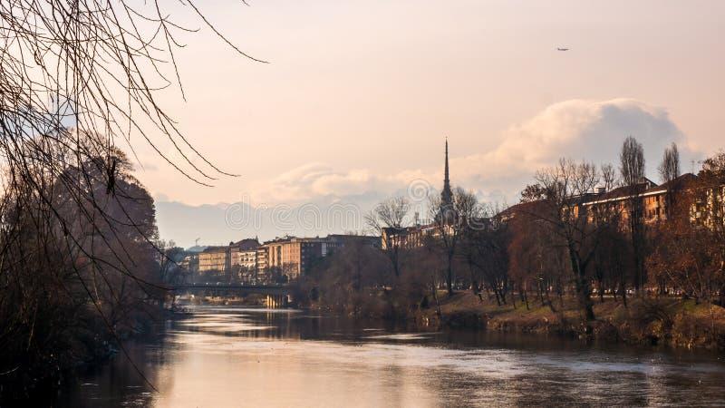 De Rivierweergeven van Turijn royalty-vrije stock afbeelding