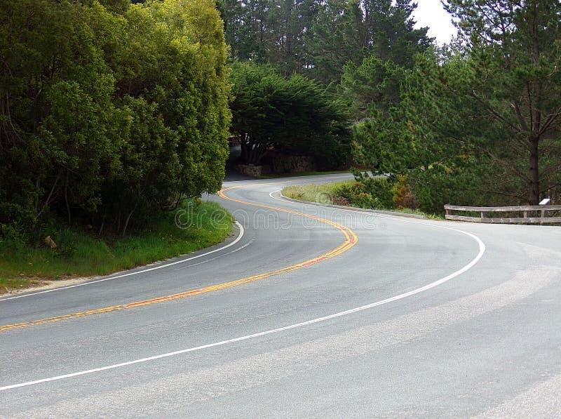De Roadtrip estrada nenhum para baixo 1 ao longo da Costa do Pacífico de Califórnia fotos de stock royalty free